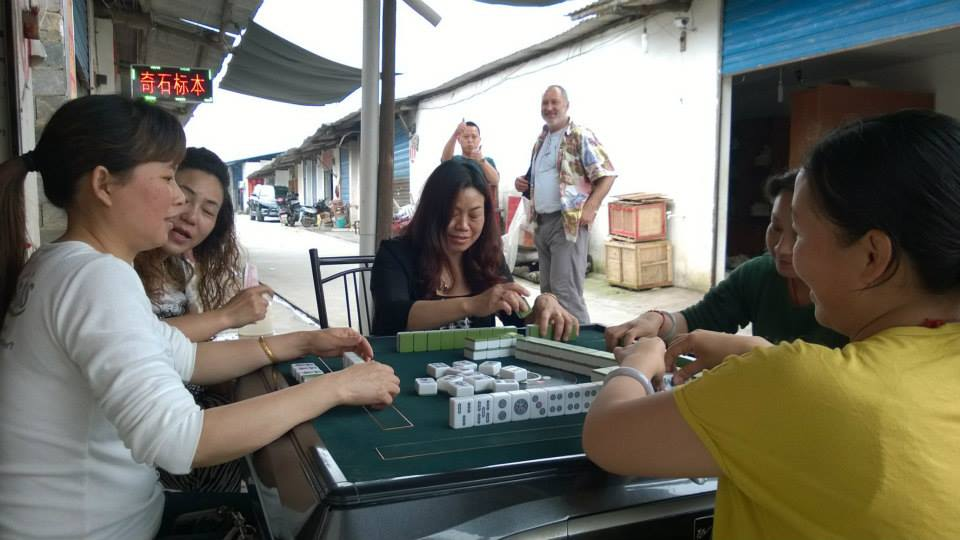 Hey; when things are slow in any mineral venue, what do you do....play Mahjong of course