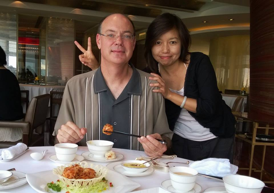 Conny Wong and I enjoying the food for a quick lunch