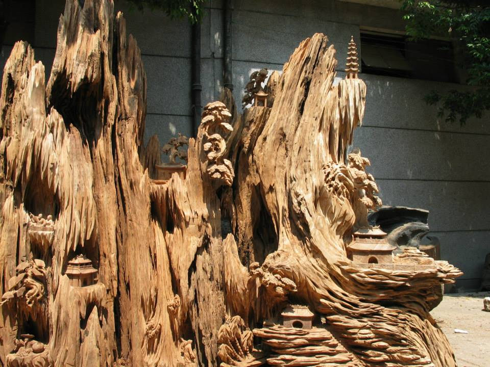 Some of the tree roots in Guilin that they carve into interesting shapes and stories