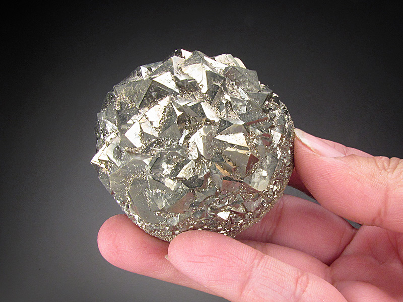 Pyrite Ball American Aggregates Corp Quarry Indianapolis Marion County Indiana USA Mineral Specimen For Sale