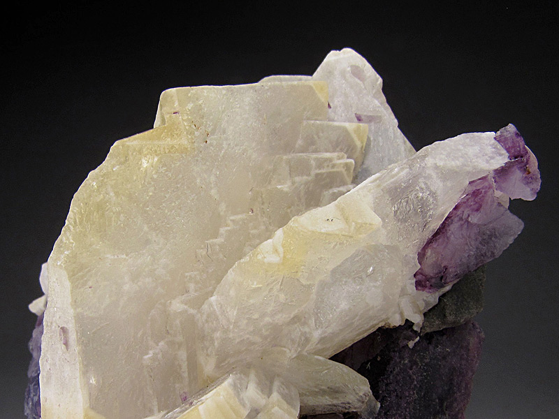 Barite on Fluorite Annabel Lee Mine Cave-in-Rock Hardin County Illinois Mineral Specimen For Sale