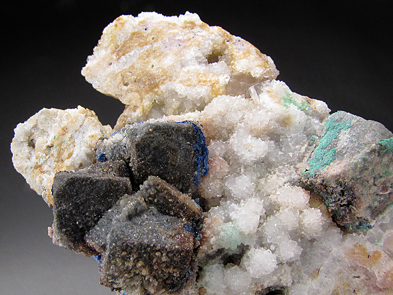 Linarite on Galena Sunshine #3 Adit Blanchard Mine Bingham Socorro County New Mexico Mineral Specimen For Sale