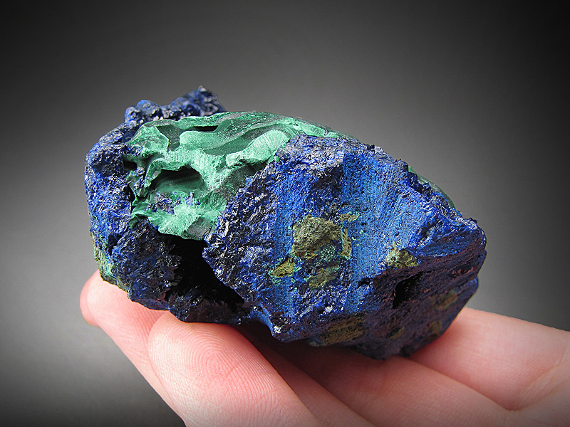 Azurite on Malachite Tongshan Mine Guichi District Chizhou Prefecture Anhui Province China Mineral Specimen For Sale