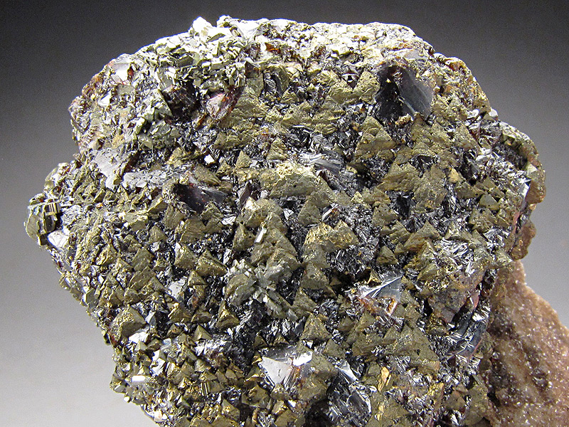 Sphalerite and Chalcopyrite Crystals on Matrix Tri-State District Ottawa County Oklahoma Mineral Specimen For Sale