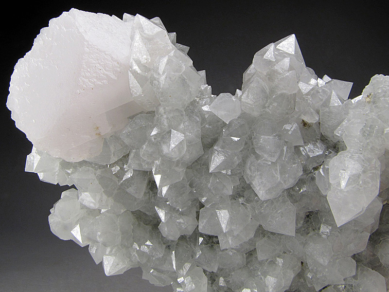 Quartz and Calcite Crystals Huanggang Mine Hexigten Banner Ulanhad League Inner Mongolia A R China Mineral Specimen For Sale