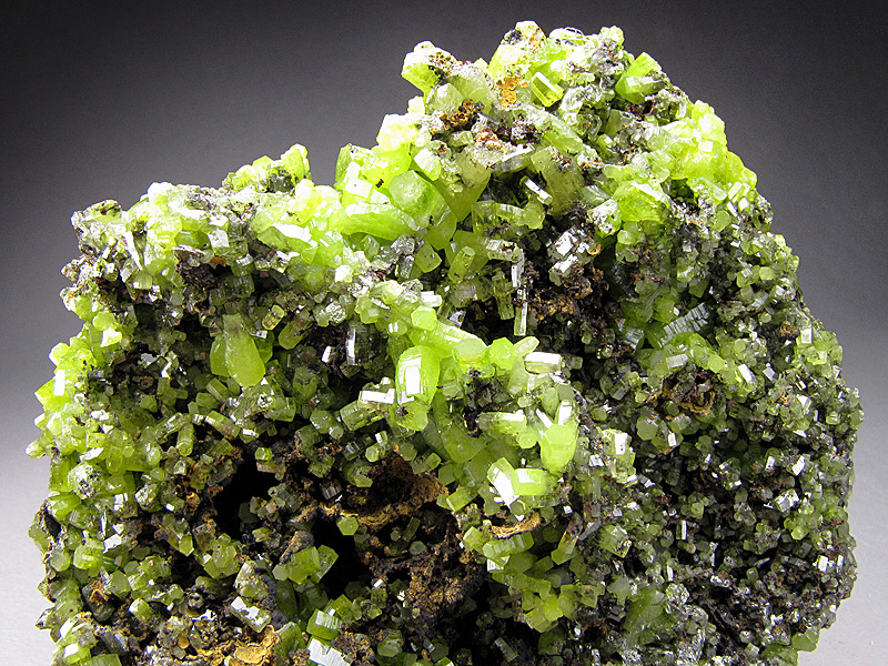 Pyromorphite Crystals on Matrix Daoping Mine Guilin Prefecture Guangxi Zhuang Autonomous Region China Mineral Specimen For Sale