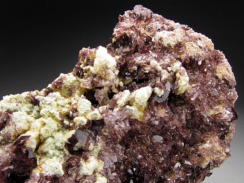 Axinite Crystals on Matrix, Calaveras County, California
