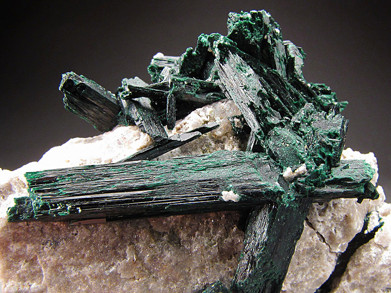 Mineral Specimen Brochantite Crystals Milpillas Mine Cuitata Municipio de Cananea Sonora Mexico Green For Sale