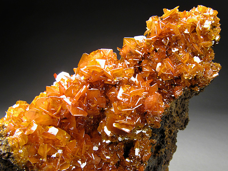 Mineral Specimen Wulfenite Crystals Stone Crack Kuruktag Mountains Shanshan County Xinjiang Uyghur Autonomous Region China For Sale
