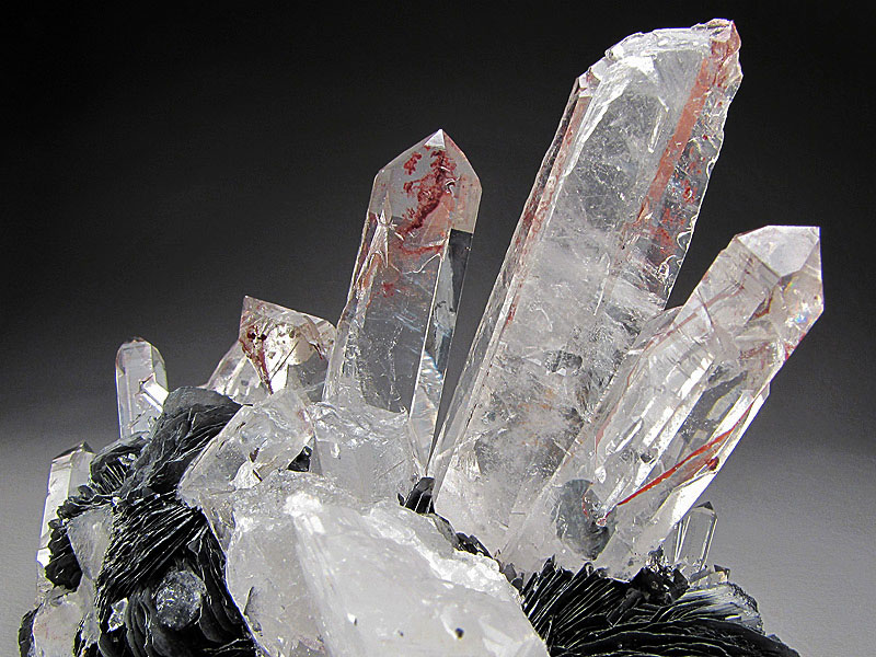 Mineral Specimen Quartz Hematite Crystals Lechang Mine Lechang County Shaoguan Prefecture Guangdong Province China For Sale