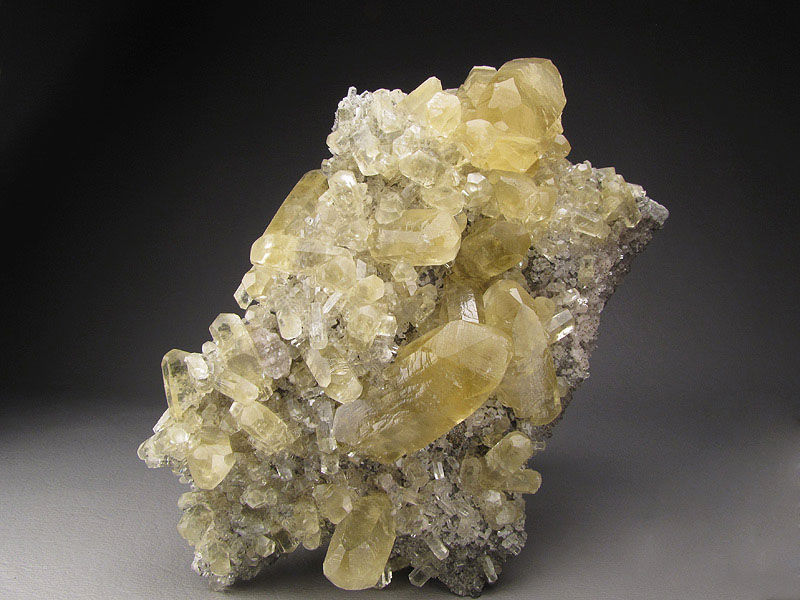 Mineral Specimen Calcite Crystals on Matrix Sweetwater Mine Reynolds County Missouri For Sale