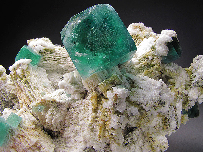 Mineral Specimen Green Fluorite Crystals Erongo Massif Erongo Region Namibia For Sale