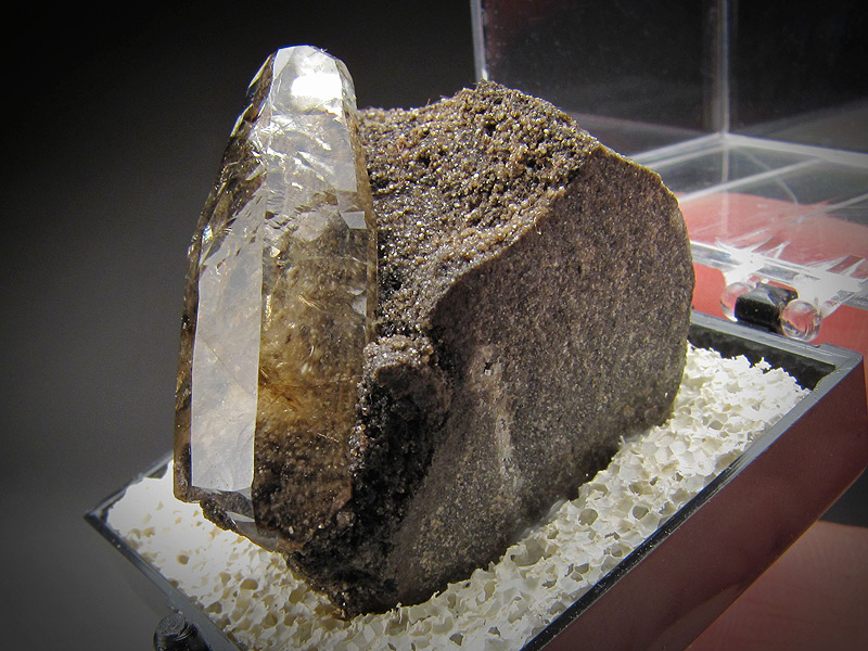 Mineral Specimen Calcite Crystal on Matrix Rensselaer Quarry Pleasant Ridge Jasper County Indiana  Ex Richard Heck collection For Sale