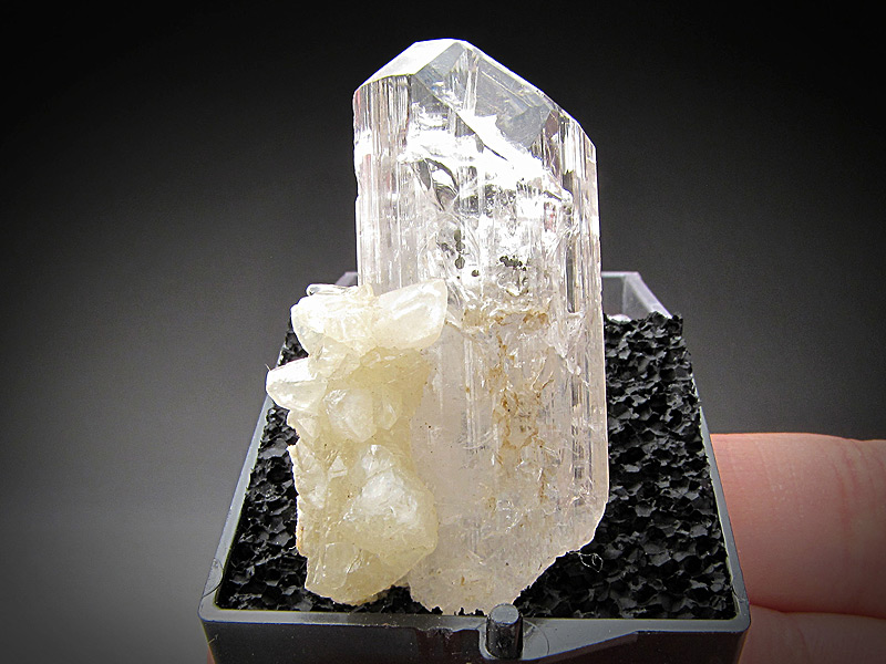 Mineral Specimen Danburite with Calcite Crystals Charcas San Luis Potosi Mexico Ex Richard Heck Collection For Sale