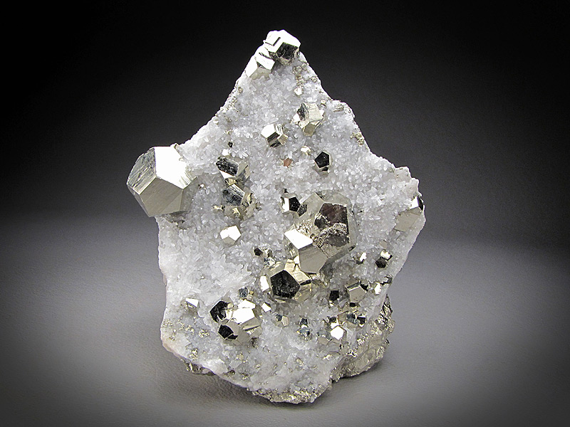 Mineral Specimen Pyrite with Quartz Crystals Steward Mine Butte Montana For Sale