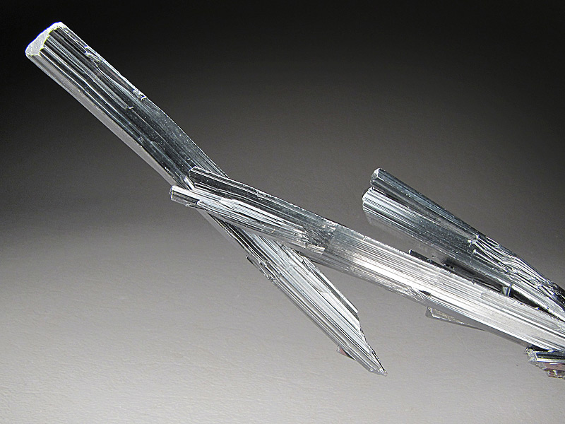 Mineral Specimen Stibnite Crystals Xikuangshan Antimony deposit Loudi Prefecture Hunan Province China For Sale