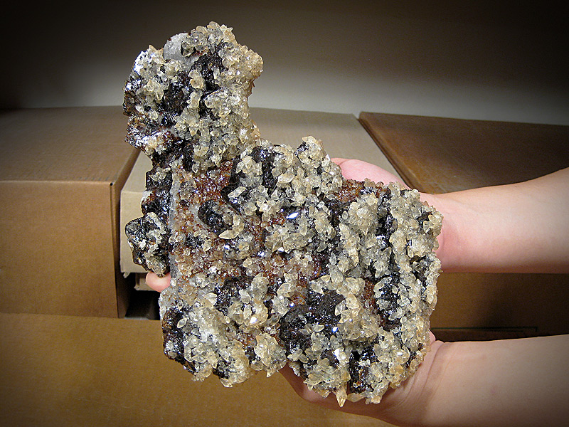 Calcite and Sphalerite Crystals Elmwood Mine Smith County Tennessee Mineral Specimen For Sale