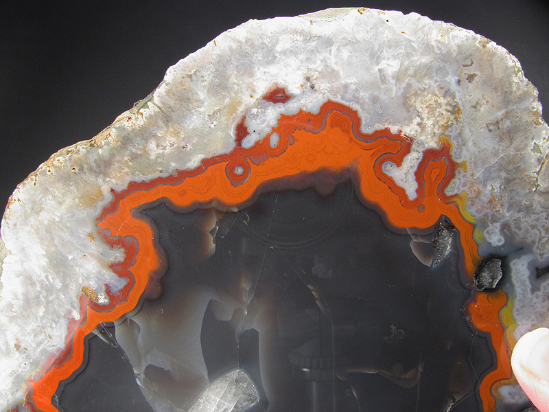 Orange-Red Banded Agate Knobs region Kentucky Agate District Kentucky For Sale