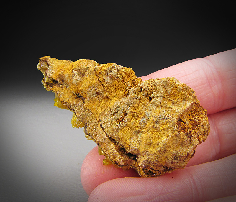 Mimetite Crystals Dashuihu Adit Pingtouling Guangdong Province China Mineral Specimen For Sale