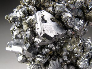 Twinned Galena Crystals on Matrix Buick Mine Viburnum Trend District Iron County Missouri Mineral Specimen For Sale