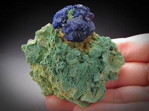 Mineral Specimen Deep-Blue Azurite Crystal Ball Big Indian Mine La Sal San Juan County Utah For Sale