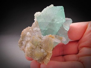 Mineral Specimen Green Fluorite Quartz Crystals Riemvasmaak Kakamas District Northern Cape Province South Africa For Sale