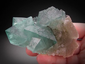 Mineral Specimen Green Fluorite with Quartz Crystals Riemvasmaak Kakamas District Northern Cape Province South Africa For Sale