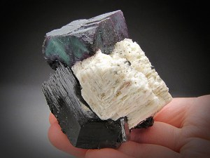 Mineral Specimen Fluorite and Schorl Tourmaline Erongo Massif Erongo Region Namibia For Sale