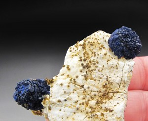 Deep-Blue Azurite Crystal Ball Hanover Mine Hanover-Fierro District Grant County New Mexico Mineral Specimen For Sale