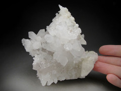 Quartz and Calcite on Danburite, San Luis Potosi, Mexico