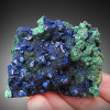 Azurite on Malachite, Anhui Province, China