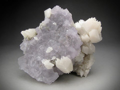 Fluorite and Calcite Crystals on Matrix, Naica, Mexico
