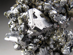 Twinned Galena Crystals on Matrix, Buick Mine, Missouri