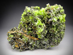 Pyromorphite Crystals on Matrix, Daoping Mine, China