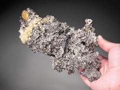 Calcite on Sphalerite Crystals, Elmwood Mine, Tennessee