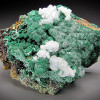Malachite and Calcite Crystals, Old Dominion Mine, Arizona