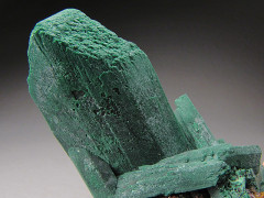 Malachite after Azurite Crystals on Matrix, Bisbee, Arizona
