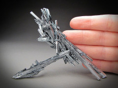 Stibnite Crystals, Xikuangshan, China