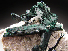 Brochantite Crystals, Milpillas, Sonora, Mexico
