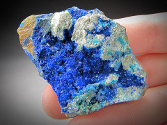 Linarite and Caledonite Crystals, Blue Bell Mine, California