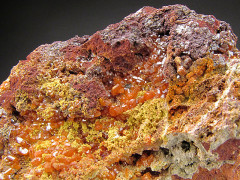 Orange Wulfenite Crystals, Gonzalito Mine, Argentina
