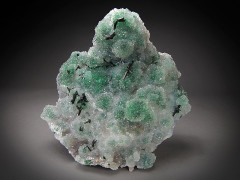 Atacamite on Quartz and Malachite, Lily Mine, Peru