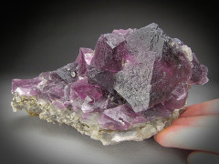 Octahedral Fluorite, Cooks Peak, New Mexico