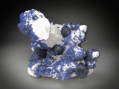 Blue Fluorite on Quartz Crystals, Inner Mongolia, China