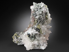 Chalcopyrite and Quartz Crystals, Piedras Verde, Mexico