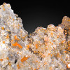 Wulfenite and Calcite Crystals on Matrix, Red Cloud Mine, Arizona