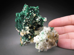 Malachite and Quartz, Concepcion del Oro, Mexico