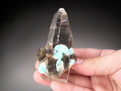 Amazonite and Smoky Quartz Crystals, Crystal Peak, Colorado