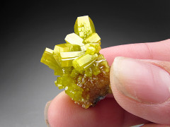 Green Pyromorphite Crystals, Bunker Hill Mine, Idaho